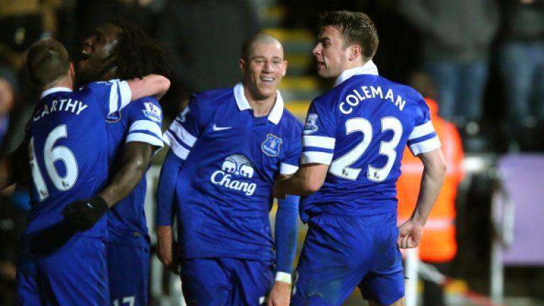 GIF: Seamus Coleman scores a screamer for Everton