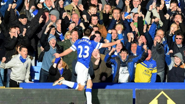 Vine: Seamus Coleman returns to Everton team and scores the opener against Arsenal