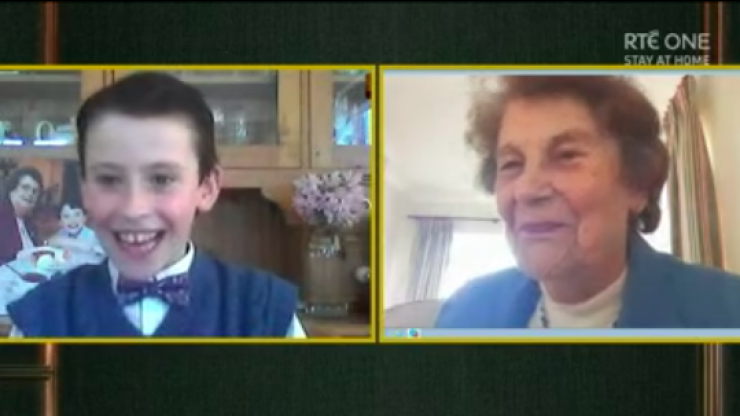 Ireland collectively in tears as Late Late Show reunites Toy Show stars Tom and his Nanny Pat