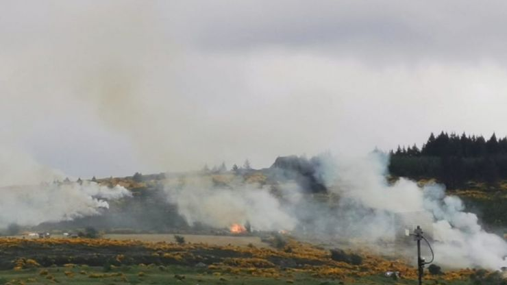 Fire brigade tackle major wildfire in Dublin Mountains overnight