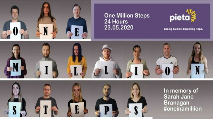 One million steps in 24 hours, for Pieta House and for Sarah