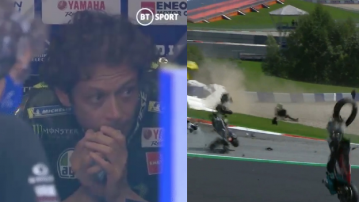 Valentino Rossi emerges unscathed after horror crash at Austrian GP