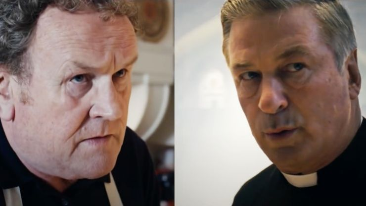 First trailer for new Irish comedy Pixie stars Colm Meaney, Dylan Moran and Alec Baldwin as a deadly gangster priest