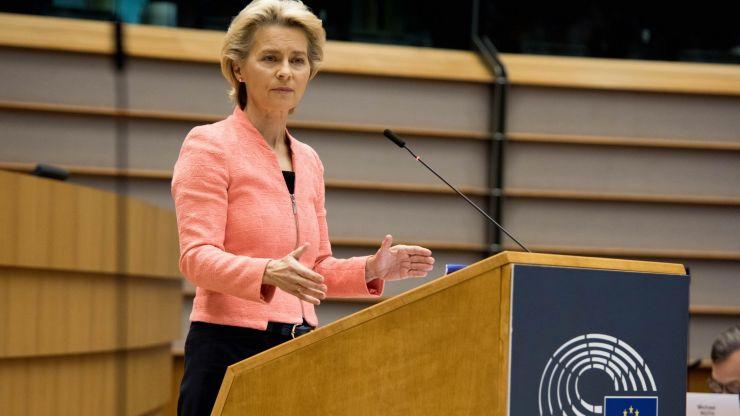 "Ursula von der Leyen backs Ireland, says EU will ""never backtrack"" on Brexit deal"