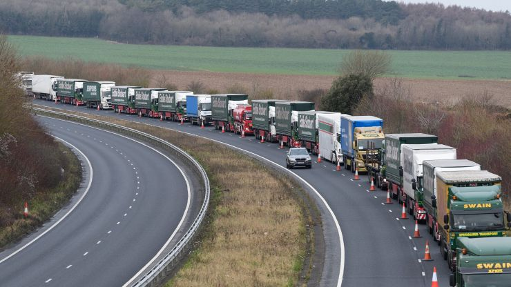 Brexit: Lorries will need permit to enter Kent from January