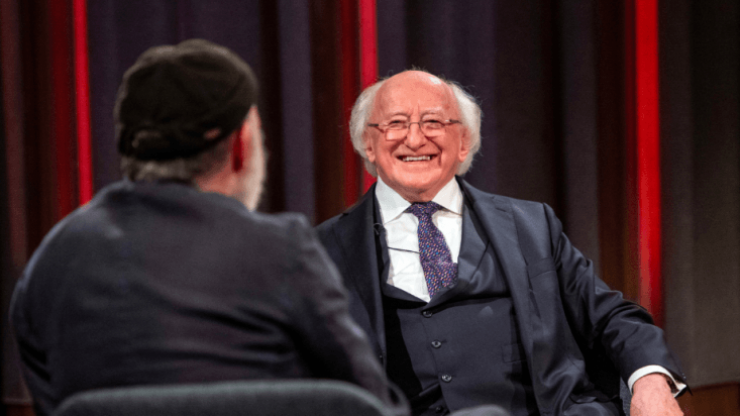 """You've a remarkable mind!"" - Tommy Tiernan's chat with Michael D. Higgins was fantastic"