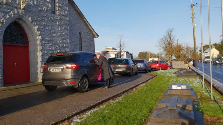 Galway parish reports record high attendance at Ash Wednesday drive-thru