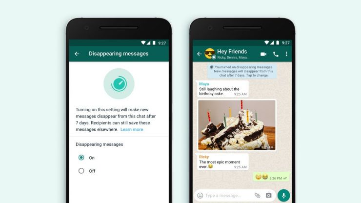 WhatsApp is introducing messages which disappear