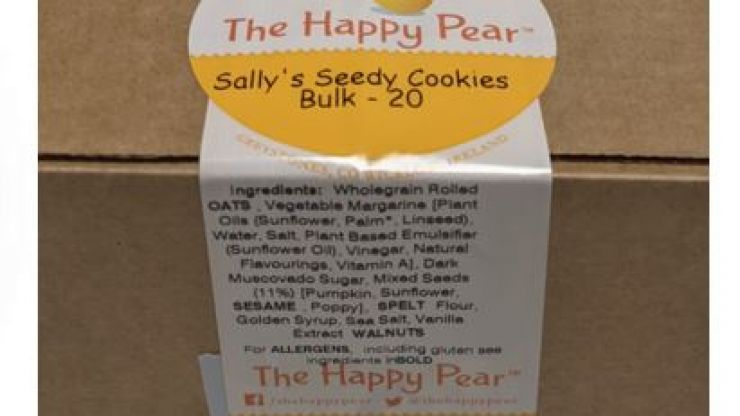 The Happy Pear cookies and cookie bites recalled due to presence of pesticide