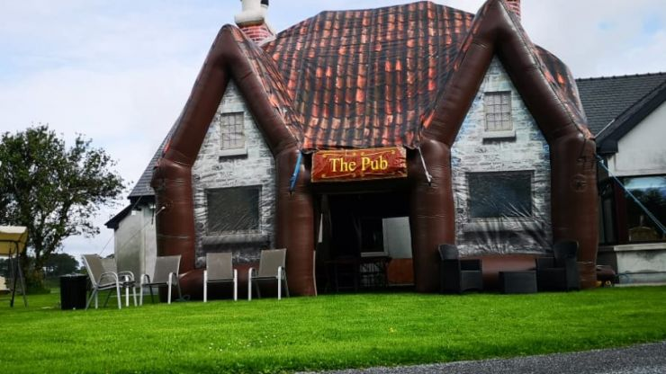 You can now get a life-size inflatable pub for your back garden
