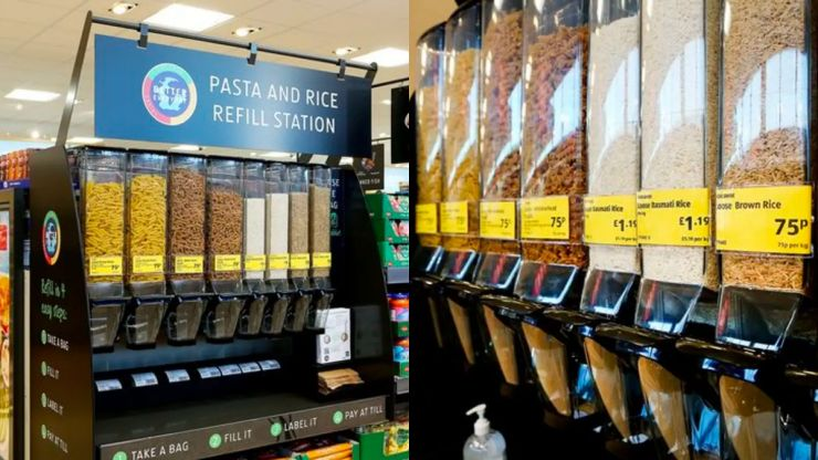Aldi to trial loose pasta and rice to reduce plastic waste in the UK