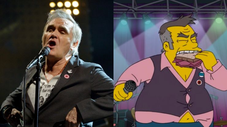 "Morrissey calls The Simpsons ""racist"" after showing him with his ""belly hanging out"""