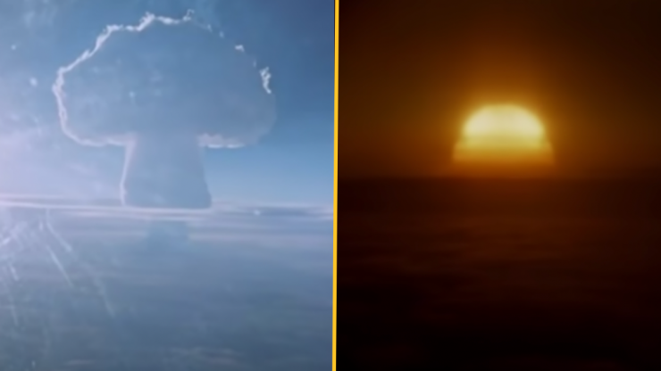 Declassified Russian footage of the largest nuclear bomb ever tested goes viral
