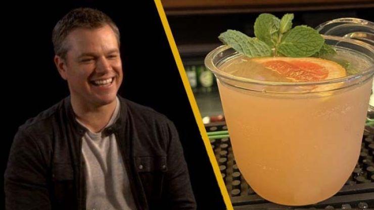 WATCH: Matt Damon reacts to Dalkey bar creating a cocktail called The Matt Damon