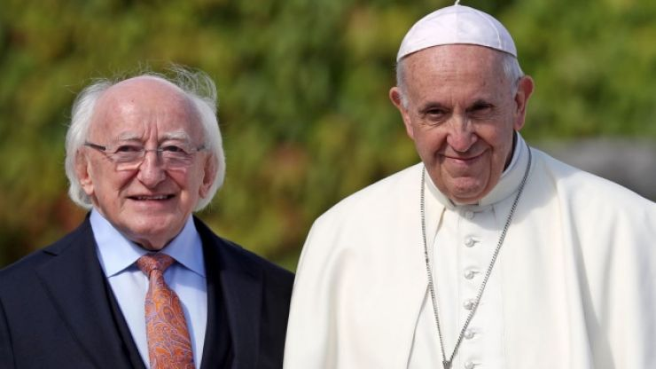 """""""Wise man of today"""" Michael D Higgins praised by Pope Francis"""