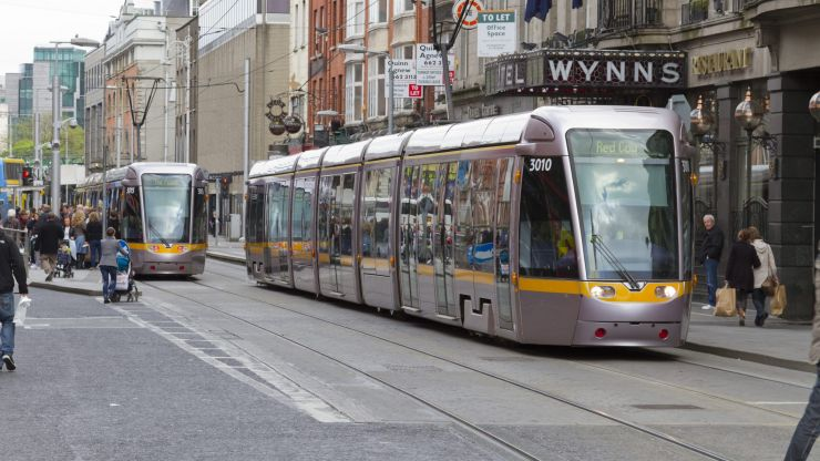Group of 20 young men board Luas and assault passenger