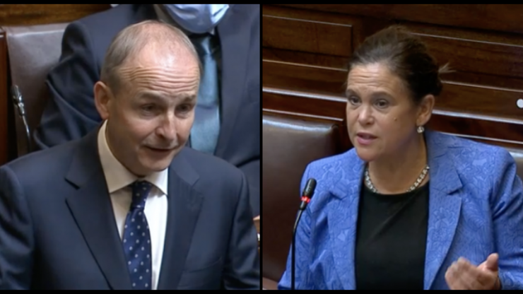 """Mary Lou McDonald hits out at Micheál Martin for """"mansplaining"""" during heated debate"""