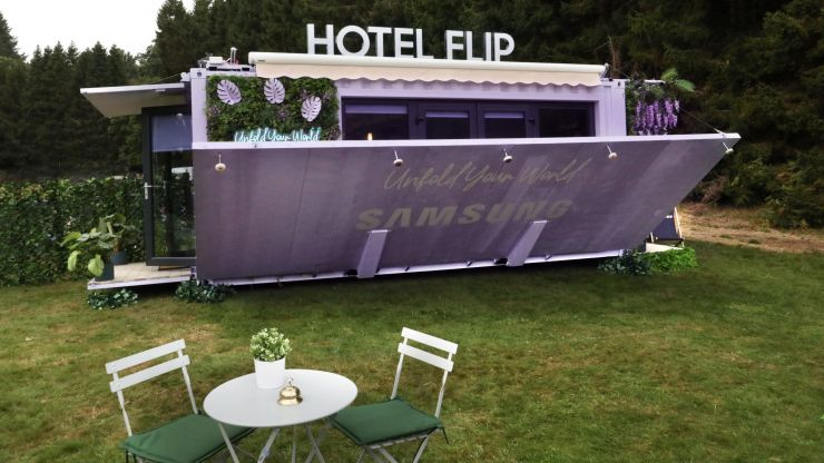 The first ever foldable hotel room has been launched in Ireland