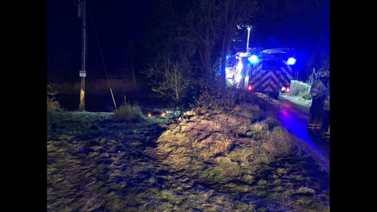 Gardaí rescue woman from car underwater in Limerick