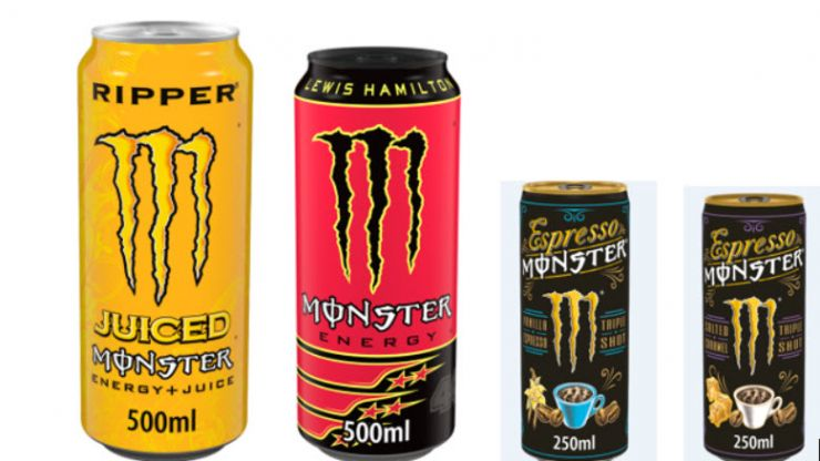 Four types of Monster Energy drink recalled by FSAI
