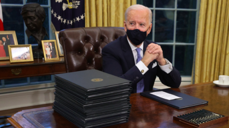 Joe Biden has removed a bust of Winston Churchill from the Oval Office