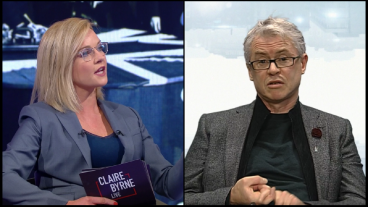 """Joe Brolly """"taken off air"""" during Claire Byrne Live debate on Monday night"""
