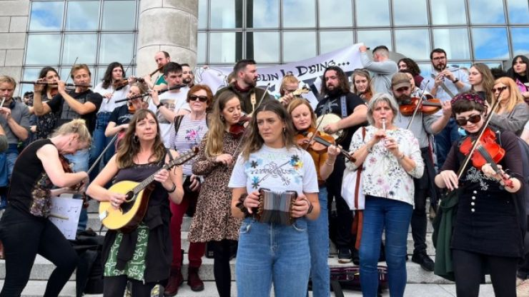 Large turnout in Dublin for protest over planned hotels