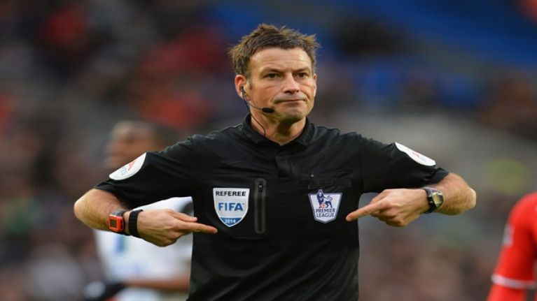 Mark Clattenburg has been dropped and Ed Sheeran is to blame
