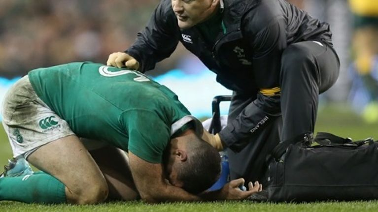 Four Irish players suffered suspected concussions during Australia win
