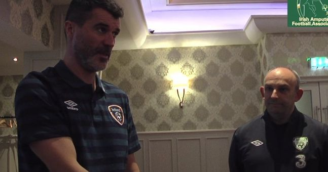 VIDEO: Roy Keane gives rousing speech to Irish amputee football team ahead of World Cup