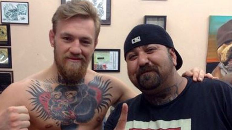 Pics Conor Mcgregor Is After Getting A Huge Tattoo Of A