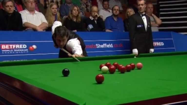 VIDEO: Ronnie O'Sullivan takes his frustration out on his poor snooker cue at the Crucible