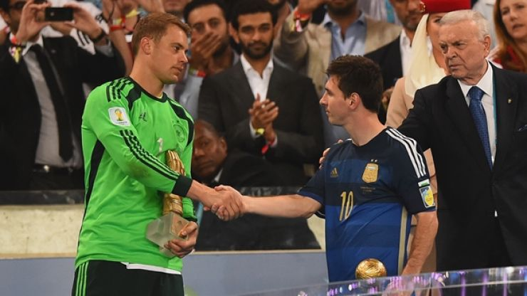 Manuel Neuer has ramped up the trash talk on Lionel Messi, plans on showing him who's boss
