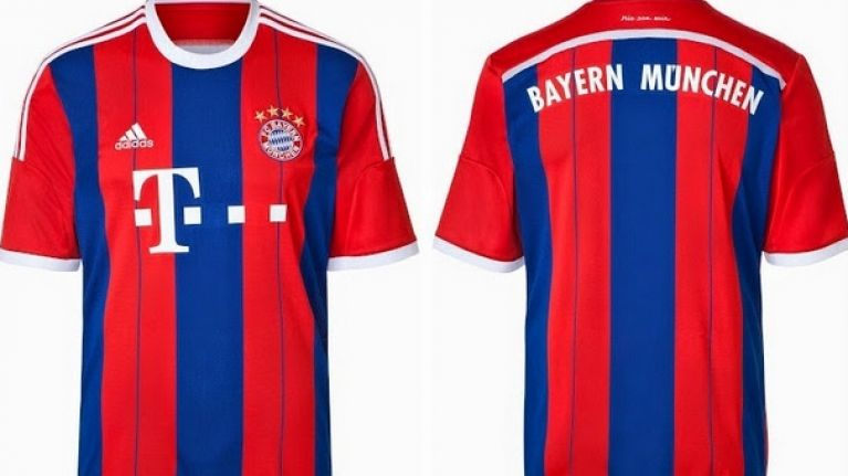 the best attitude 3bda5 50b14 PICS: Bayern Munich ditch the blue stripes for 2015-16 home ...