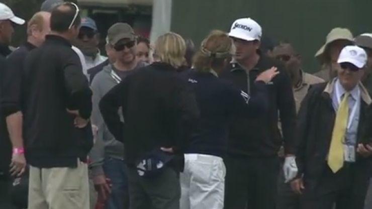 WATCH: Keegan Bradley loses his rag with golf's coolest customer Miguel Angel Jimenez
