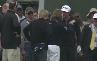 WATCH: Keegan Bradley loses his rag with golf's coolest customer Miguel Angel Jimenez