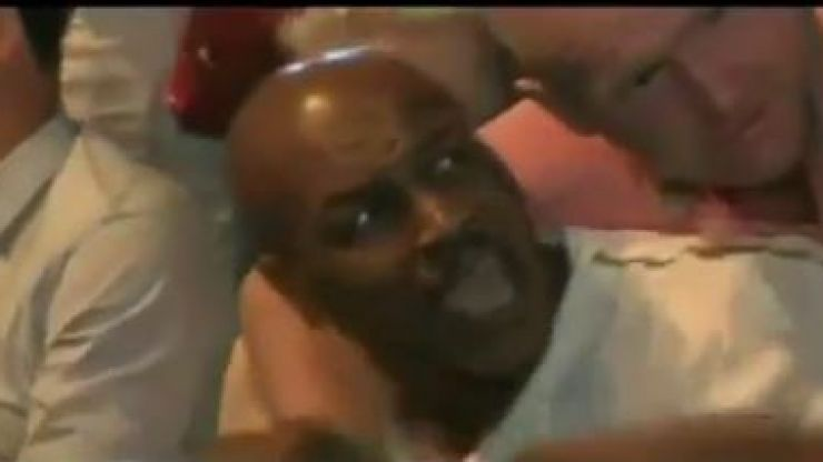 Video: Mike Tyson hits fan with two elbows at Mayweather v Pacquiao weigh-ins