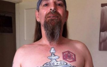 57b4b3724 PIC  This Arsenal fan may regret massive  tattoo  after today s FA Cup final