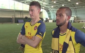 1311de7c9 VIDEO  Arsenal fans record motivational FA Cup team talk