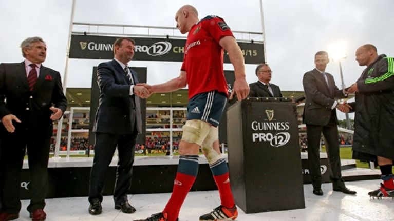 VIDEO: Paul O'Connell won't discuss Toulon move after sad Munster farewell