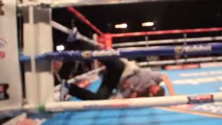 VIDEO: What happens when you have one too many pints at the boxing and jump into the ring