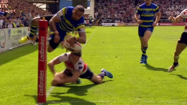 Video: Rugby league star shows ludicrous agility to score incredible leaping try