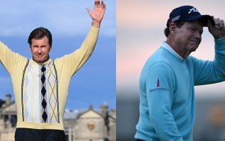Golf legends Tom Watson and Nick Faldo bid farewell to the Open