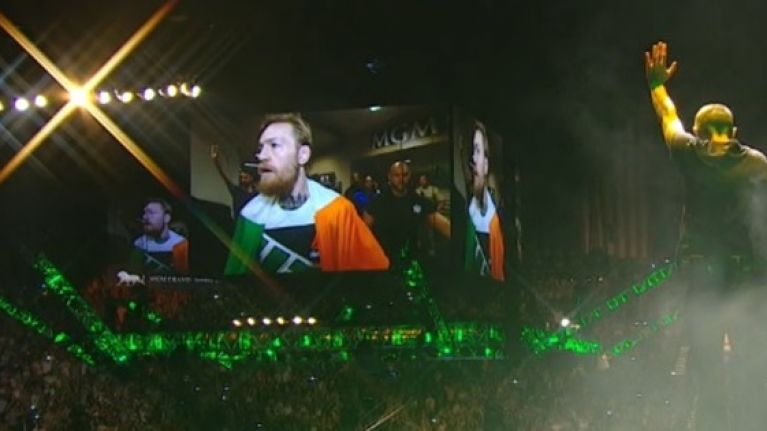 VIDEO: Relive the utterly spellbinding moment Sinead O'Connor and Conor McGregor lifted MGM Grand's roof