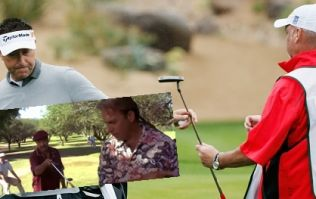 Golfer and caddie fall out, caddie walks off golf course, golfer has to find supporter to fill in