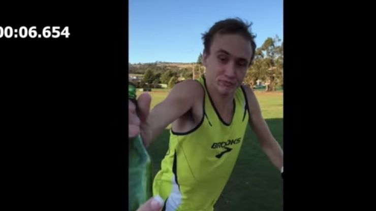 VIDEO: Random man records himself pulling off what is a crazy world record beer mile