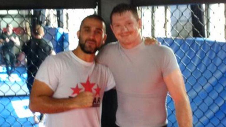 PIC: Joseph Duffy promoted to purple belt in BJJ by legendary coach Firas Zahabi