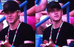 Video: Niall Horan getting caught ogling Genie Bouchard actually worked out pretty well for him
