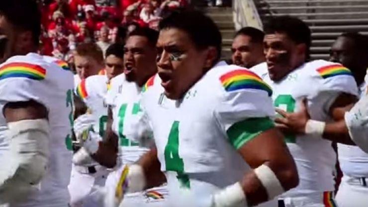 Video: The University of Hawaii college football team's haka is ferocious