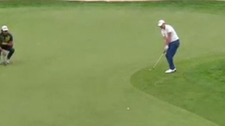 WATCH: Chris Wood suffered every golfer's worst nightmare today